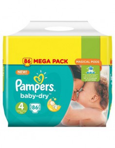PAMPERS Baby-Dry Taille 4,...