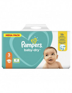 Pampers Baby-Dry Taille 3 -...